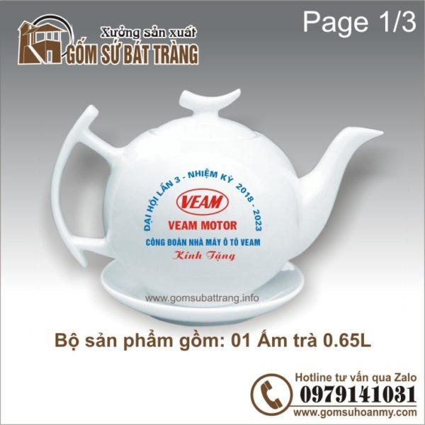 ấm chén in logo : ấm trà