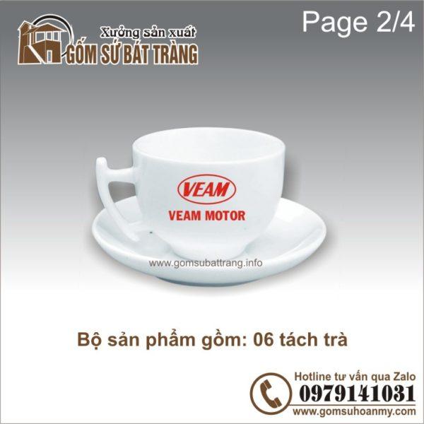 ấm chén in logo: tách trà
